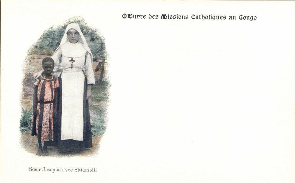 Congo Free State, Sister Josepha with Sittambili (1899