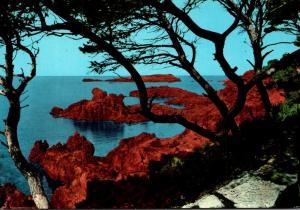 France L'Esterel et ses roches rouge