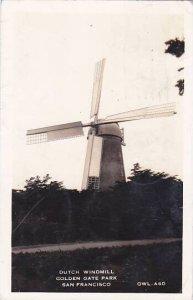 California San Francisco Dutch Windmill Golden Gate Park 1941 Real Photo