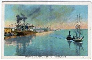 Portland, Maine, Casco Bay From Portland Bridge