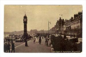 Clock Tower of Esplanade , Weymouth, England , UK , 00-10s