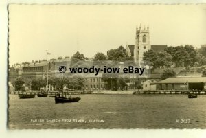 tp8152 - Kent - The Parish Church, taken from the River in 1960 - Postcard
