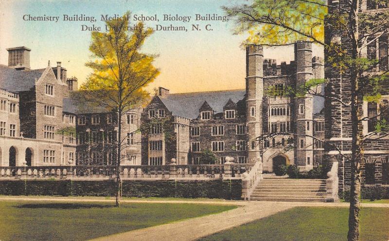 Durham North Carolina~Duke University Chemistry~Medical School~1932