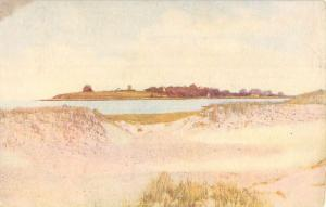 Plymouth Massachusetts Waterfront Scenic Beach View Antique Postcard K42355