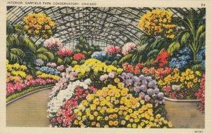 CHICAGO, Illinois, 1941 ; Interior, Garfield Park Conservatory