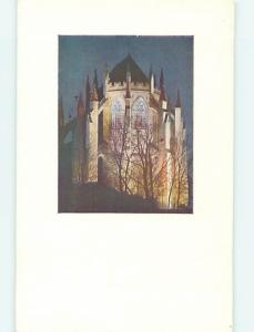 Unused Pre-1980 CATHEDRAL CHURCH SCENE Washington DC L4368