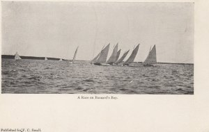 SAILING ; A race on Buzzard's Bay , Mass. , 1901-07
