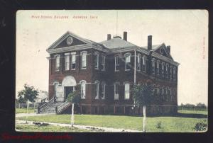 ARDMORE OKLAHOMA HIGH SCHOOL BUILDING ANTIQUE VINTAGE POSTCARD