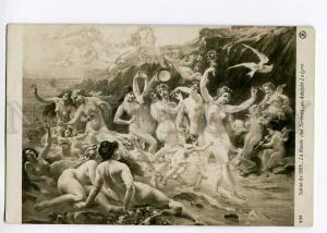 264118 LALYRE La Lyre NUDE MERMAIDS Nymph Vintage SALON 1909y