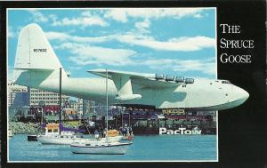 LONG BEACH CALIFORNIA QUEEN MARY SPRUCE GOOSE PLANE Postcard