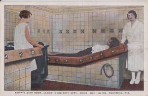 WAUKESHA WISCONSIN - PRIVATE BATH ROOM @ (MOOR) MUD BATHS 1920s