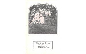 The Alcott House Concord, Massachusetts Postcard