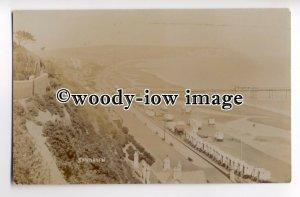 h1110 - Sandown & Pier from the cliffs , Isle of Wight - postcard by Nicholls