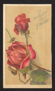 VICTORIAN TRADE CARD Alden Fruit Vinegar Roses