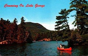New York Lake George Canoeing
