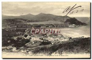 Old Postcard San Sebastian Vista general desde and Monte Ulia