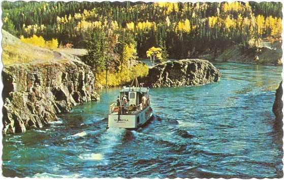 Excursion Boat Schwatka on Whitehorse Rapids in Yukon, Canada, Chrome
