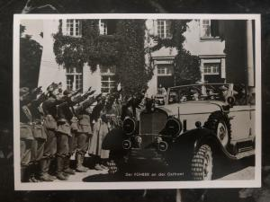 1940 Warsaw poland GG Germany RPPC Postcard cover The leader on the east front