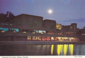 Evening view across the Rideau Canal, National Arts Centre, Ottawa, Ontario, ...