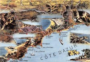 Cote D'Azur France Map Cote D'Azur Map