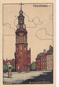 AMSTERDAM, Noord-Holland, Netherlands, PU-1925; Munttoren