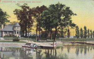 Deering Park And Pond, Portland, Maine, 1900-1910s