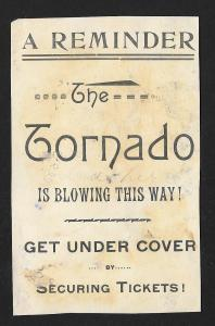 VICTORIAN TRADE CARD 'The Tornado' Entertainment Black Man