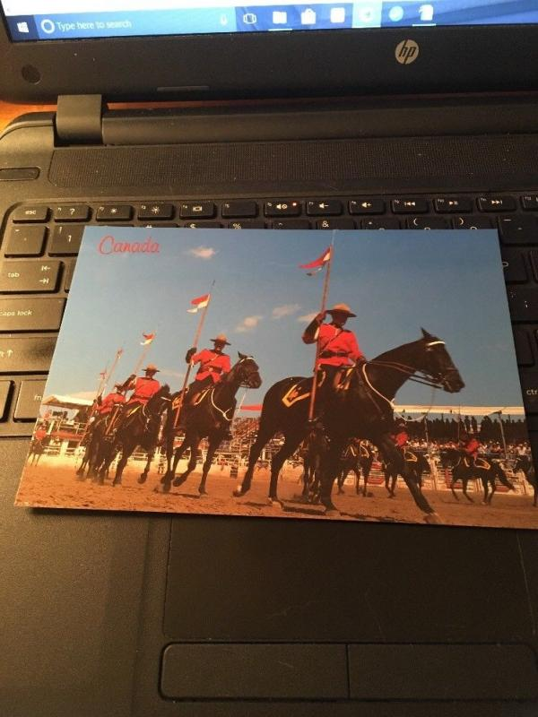 Vtg Postcard: CANADA musical ride, mounted police