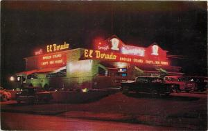 Milwaukee WI~Sonny's El Dorado~Steak House~Bright Neon Night Lights~1950s Cars