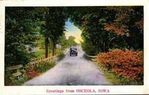 Iowa Greetings From Osceola 1936