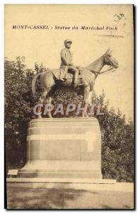 Old Postcard Mont Cassel Statue of Marechal Foch Army