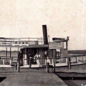 Madison ME Hayden Lake Steamer Margaret B dock c1905 undivided back postcard