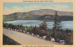 Maine Mount Desert Island Acadia National Park Eagle Lake From Cadillac Mount...