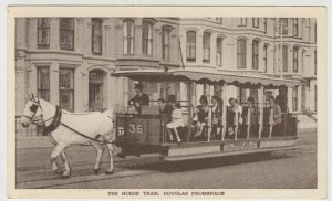 Isle Of Man; The Horse Tram, Douglas Promenade PPC By Punch Bowl Press, Unposted