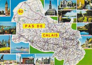 Map Of Pas De Calais France Multi View