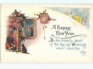 Divided-Back NEW YEAR SCENE Great Postcard AA1869