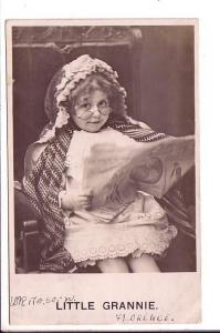 Little Girl in Grannie Costume, Real Photo, Used Hoboken, 1906