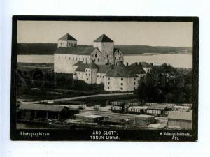 192788 FINLAND ABO castle railways Vintage photo postcard