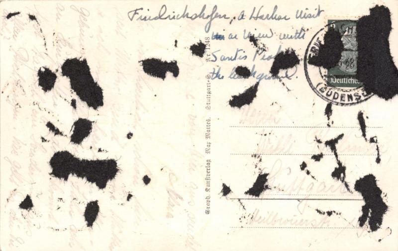 FRIEDRICHSHAFEN GERMANY A B HAFENPARTIE MIT SANTIS POSTCARD