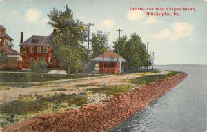 Philadelphia PA~League Island~Old Sea Wall~Houses~Octogon Bldg~1908 Postcard