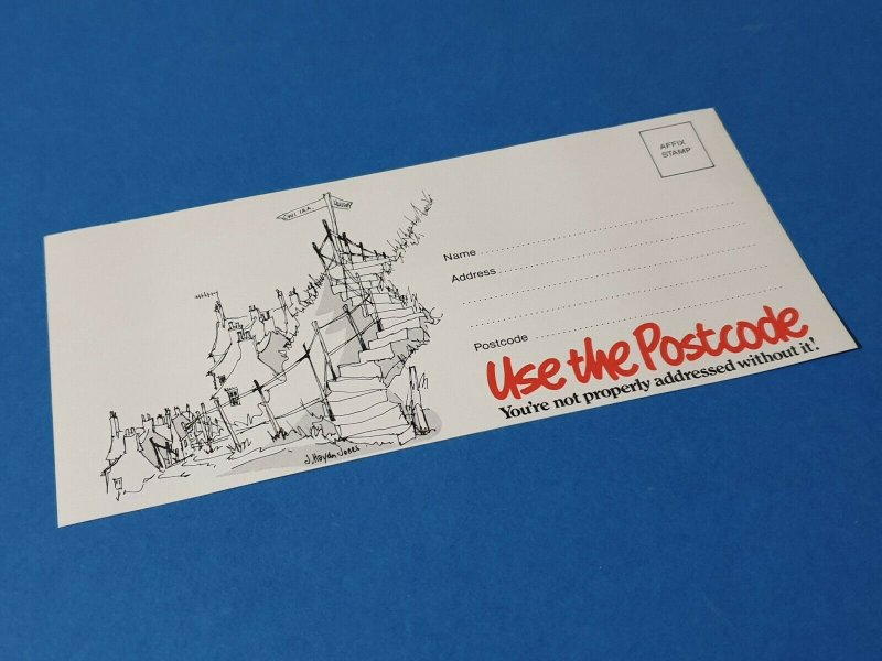 Rare 80s Postcard USE THE POSTCODE You're not properly addressed without it BU8