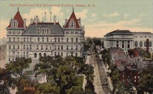 New York Albany State Capitol And New Educational Building 1917