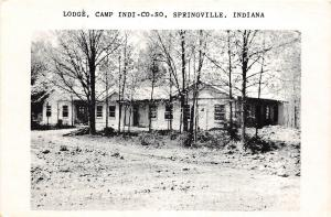 D42/ Springville Indiana In Non-Postcard c1940s Lodge Camp Indi-Co-So Lodge  2