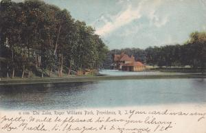 PROVIDENCE , Rhode Island , 1906 ; The Lake, Roger Williams Park