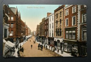Mint Vintage Grafton Street Co Dublin Ireland Real Picture Postcard