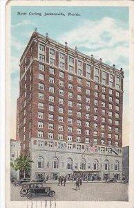 Florida Jacksonville Hotel Carling 1929