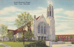 Nebraska Boys Town Dowd Memorial Chalel