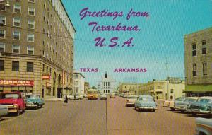 Arkansas Greetings From Texarkana Stateline Avenue Looking North