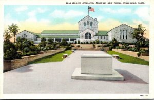 Oklahoma Claremore Will Rogers Memorial Museum and Tomb Curteich