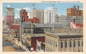 Dallas Texas~From YMCA~White Swan Coffee Building~Business College~1920 Postcard